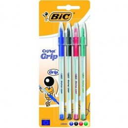 BIC CRISTAL GRIP - BLISTER...